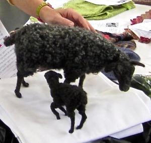 BSG 2013 Gotland Ewe & Lamb sculpture