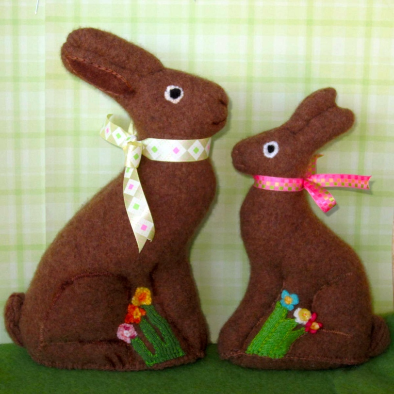 Milk Chocolate Cashmere Easter Bunnies - making an early appearance
