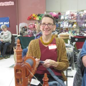 This awesome knitter also made her necklace & sweater.  Envy...envy...