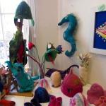 Felt hats, seahorse