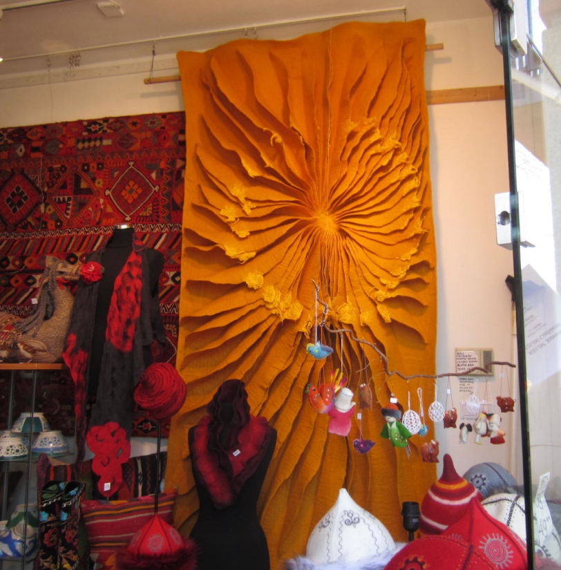 Shirdak's sunburst wall hanging