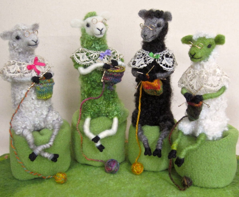 Knitting Sheep for OFFF 2013