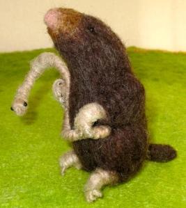 Mole with earthworm
