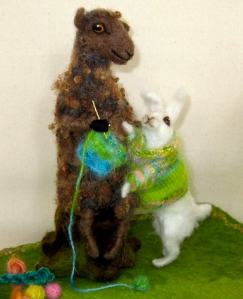 Rabbit's sweater - Knitting britches