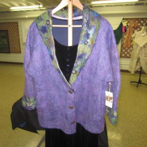 Pretty in purple felt jacket